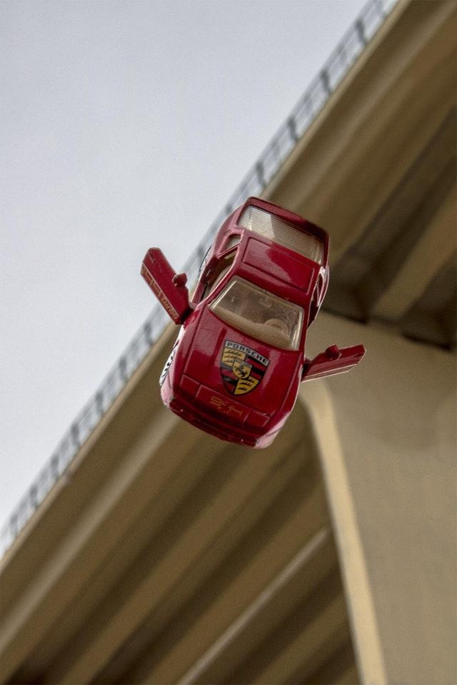 Childhood Toy Porsche matchbox Flying by crenk