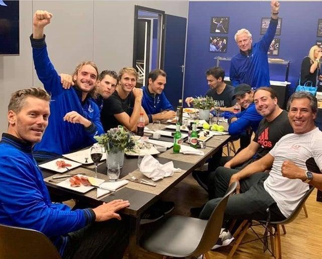 Laver Cup Team Europe Dinner - Fabio Always Eating!  by crenk