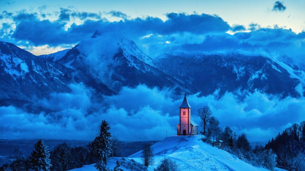 Slovenia - Church on the Hills by crenk