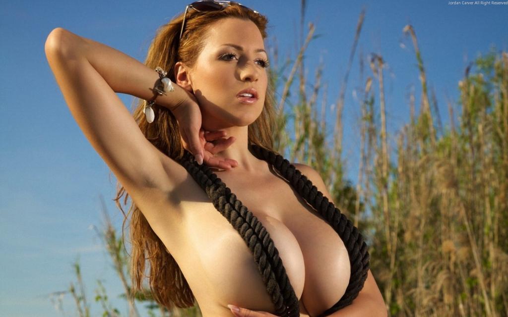 Jordan Carver Topless - Only in Rope Bra by crenk