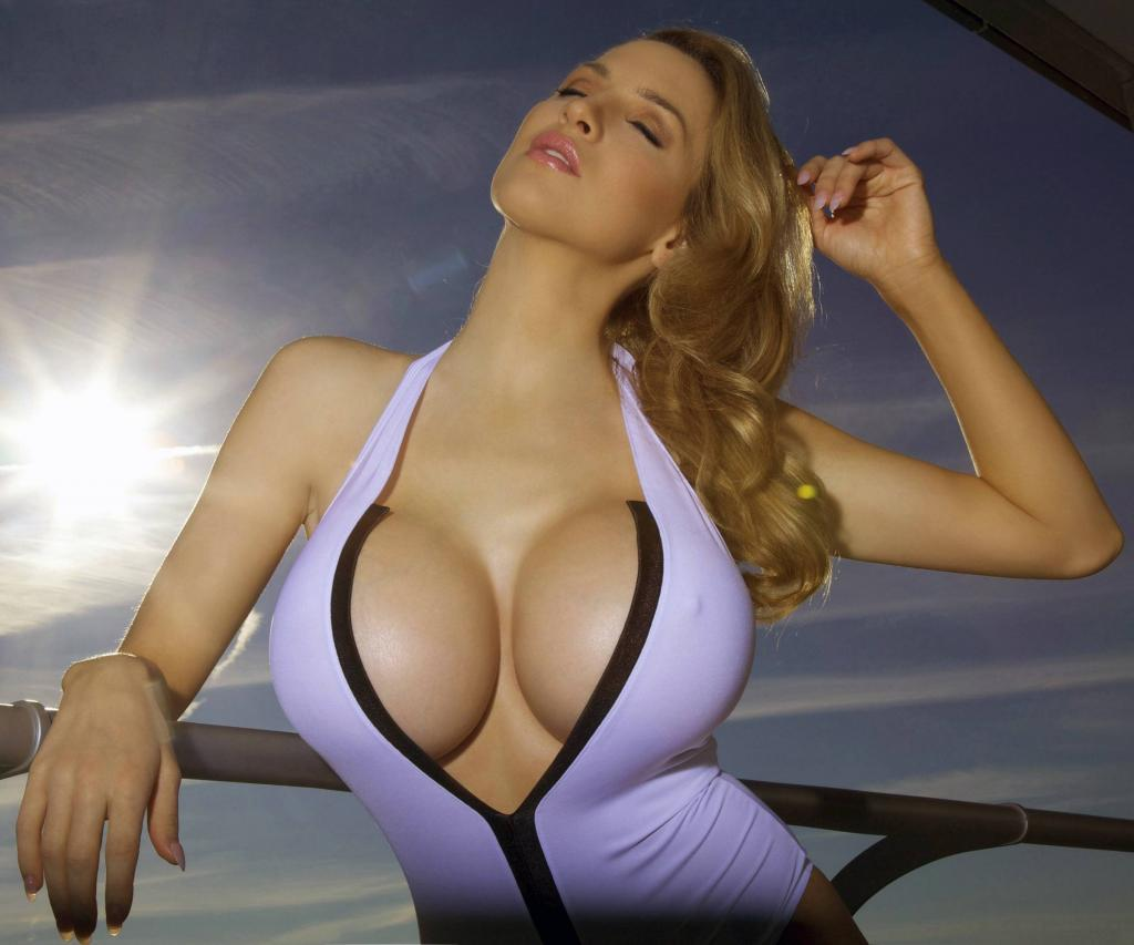 Jordan Carver - One Piece Swimsuit with Huge Cleavage by crenk