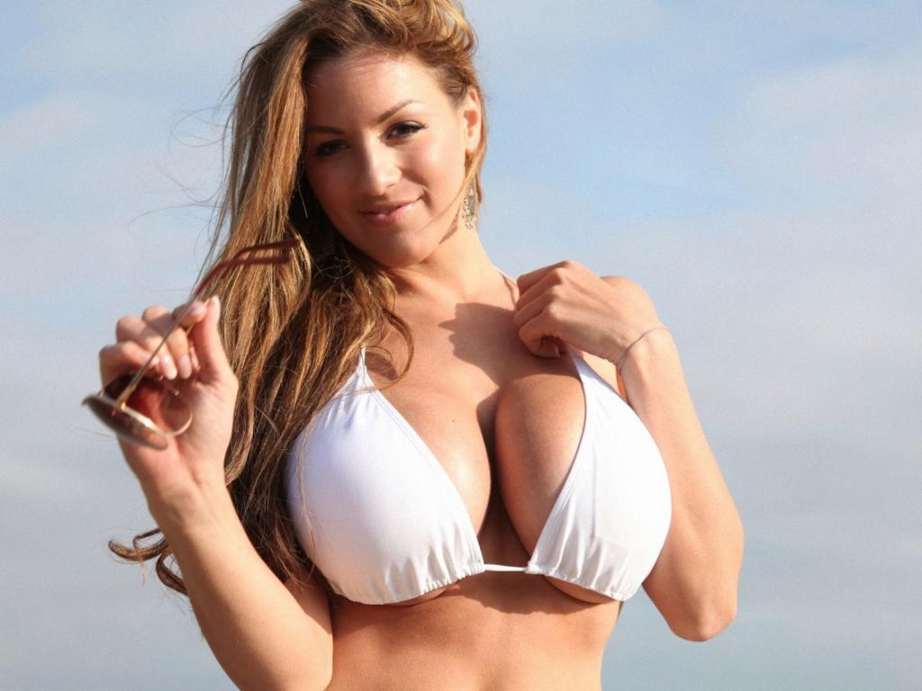 Jordan Carver in Sexy Hot White Bikini by crenk
