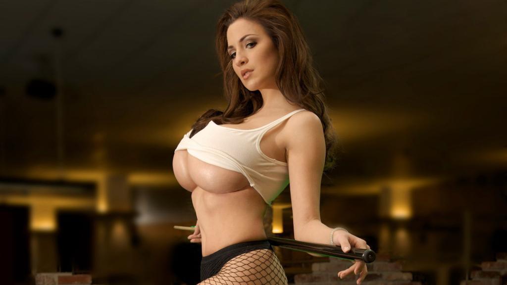 Jordan Carver - Huge Breasts in Underboob Pool Table Shot by crenk
