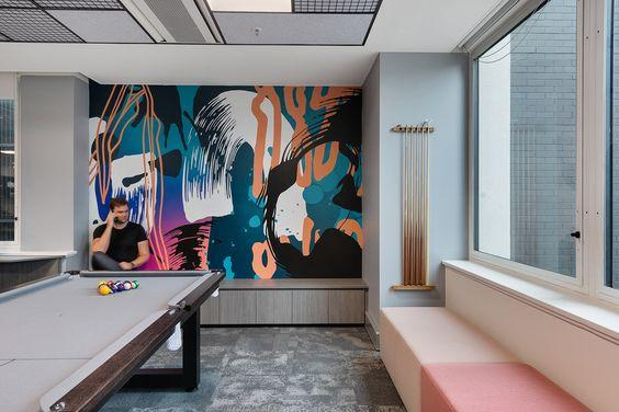 Interior design firm Siren Design Melbourne office Pool Room by crenk