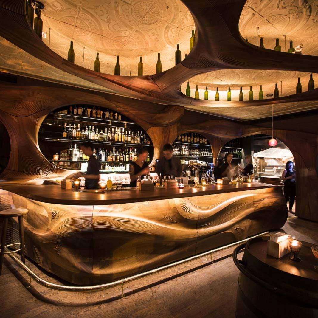The interior of Bar Rava