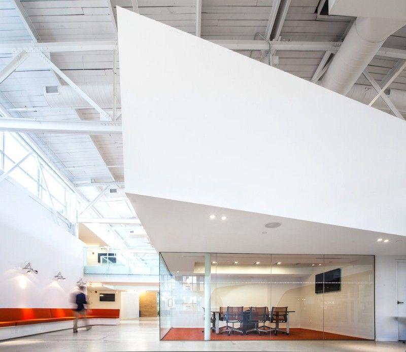 Interior of the Cossette Media's headquarters