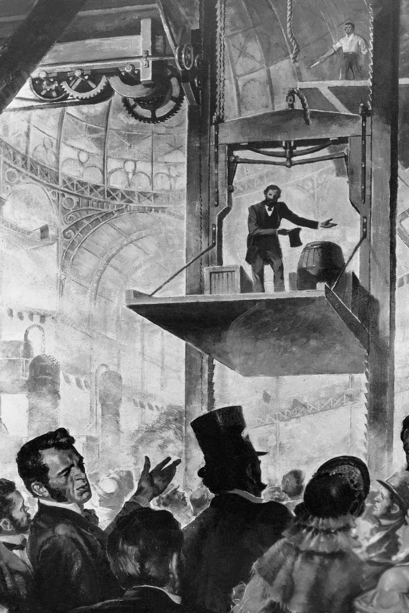 Elisha Otis 1854 elevator