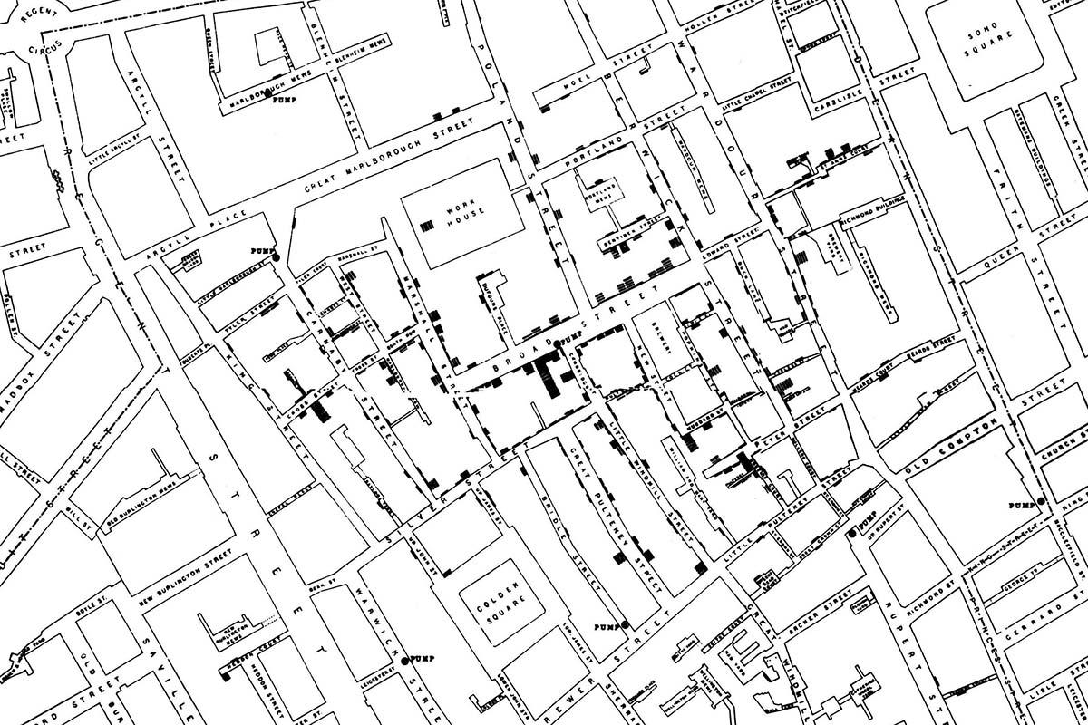 disease map made by John Snow