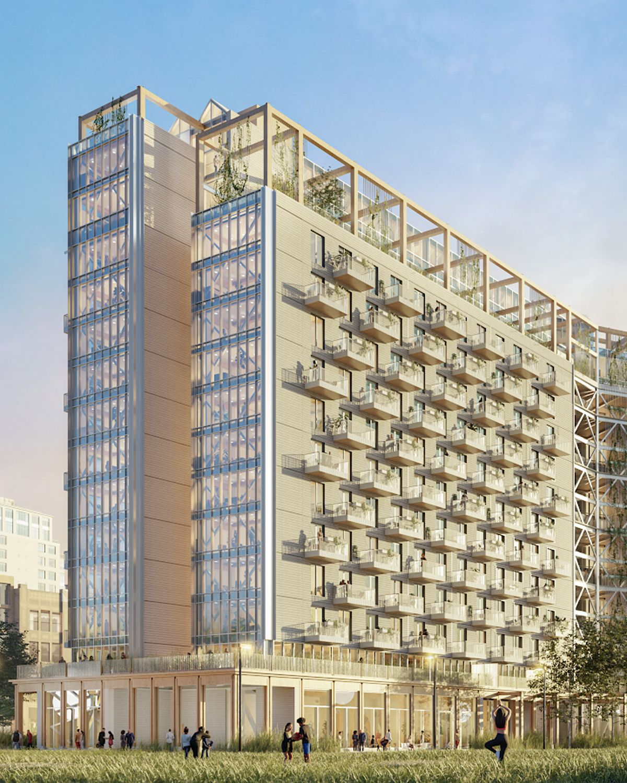 Mass Timber building rendering