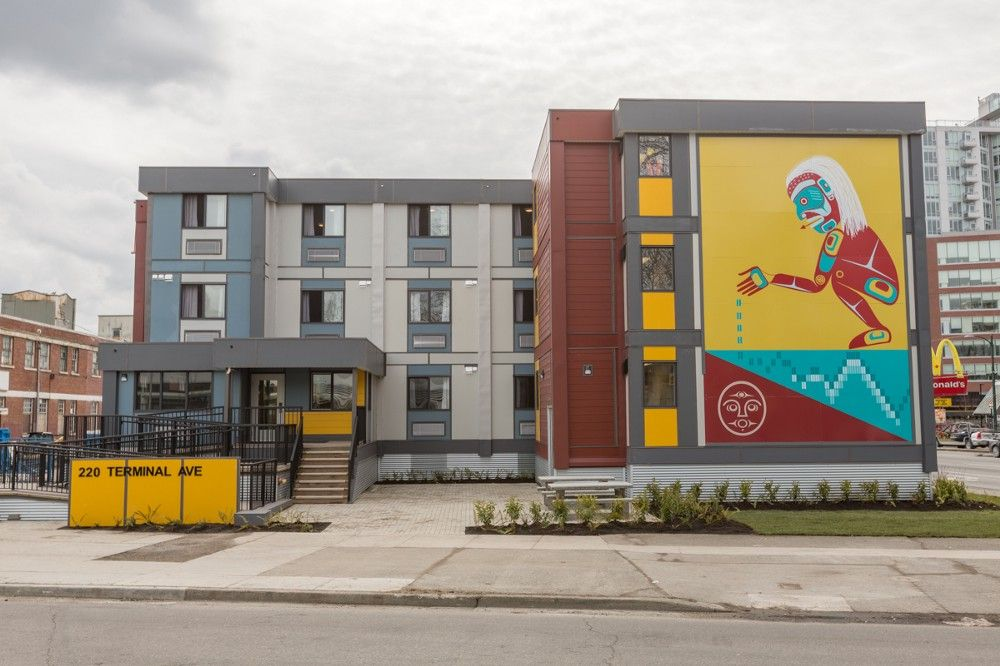 A modular housing project in Vancouver