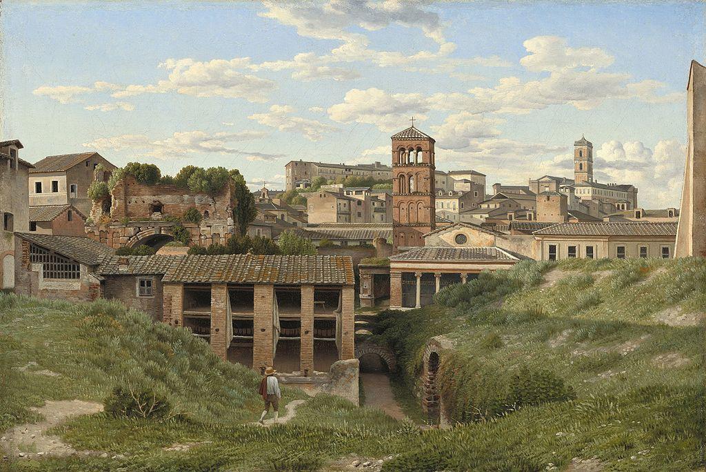 Illustration of the Cloaca Maxima in Rome