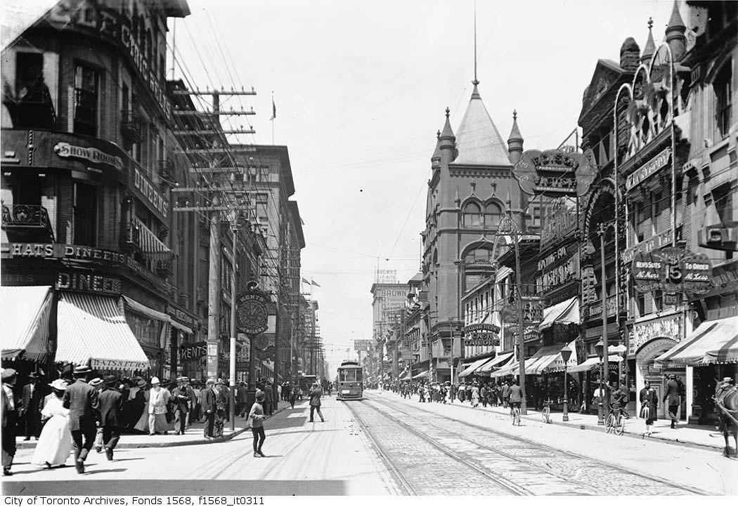 Corner of Yonge and Temperance in 1903