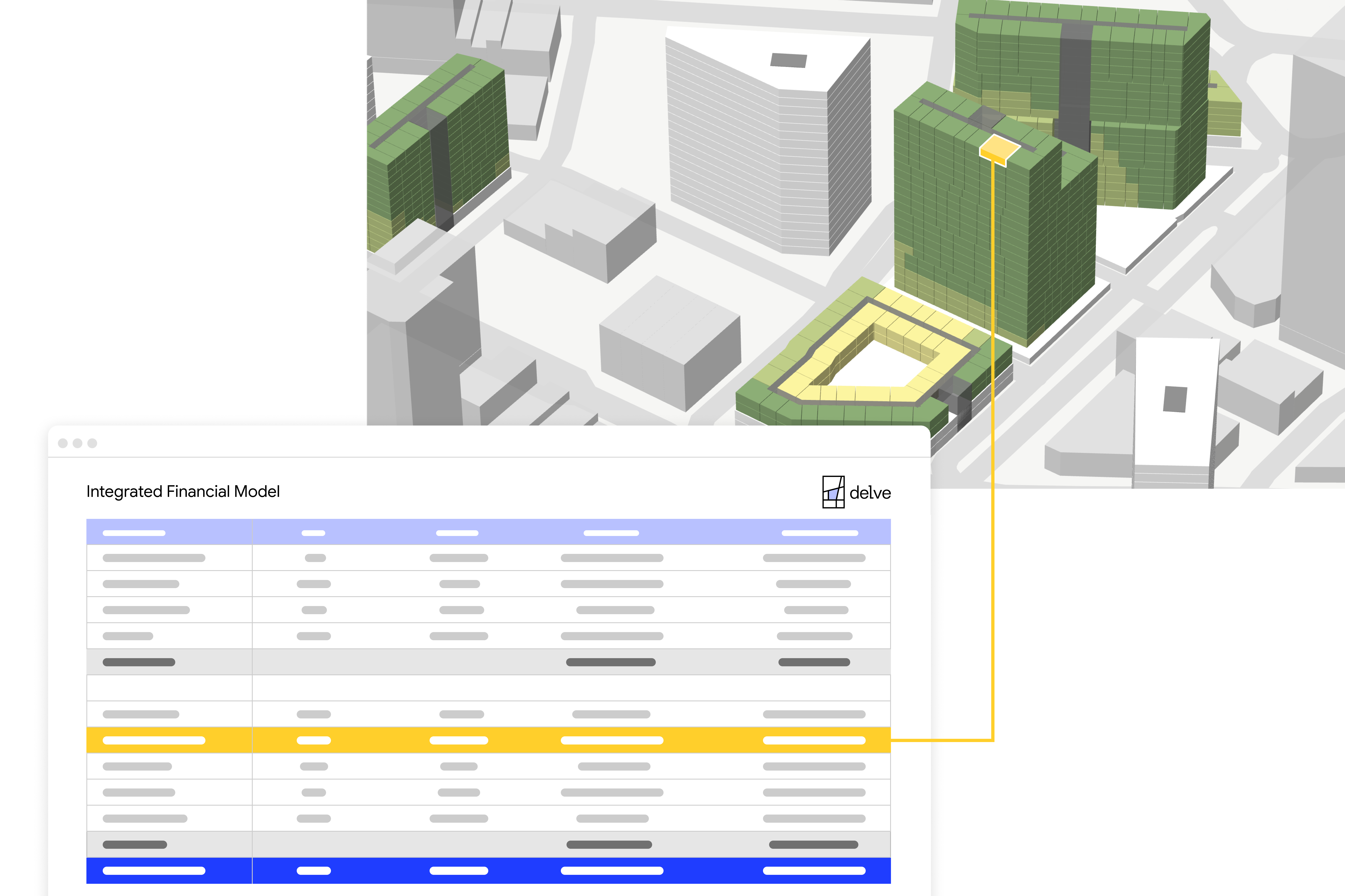An image pair showing the Delve user interface.