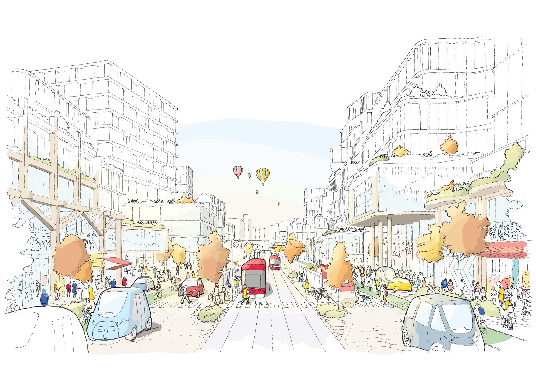 Illustration of a street