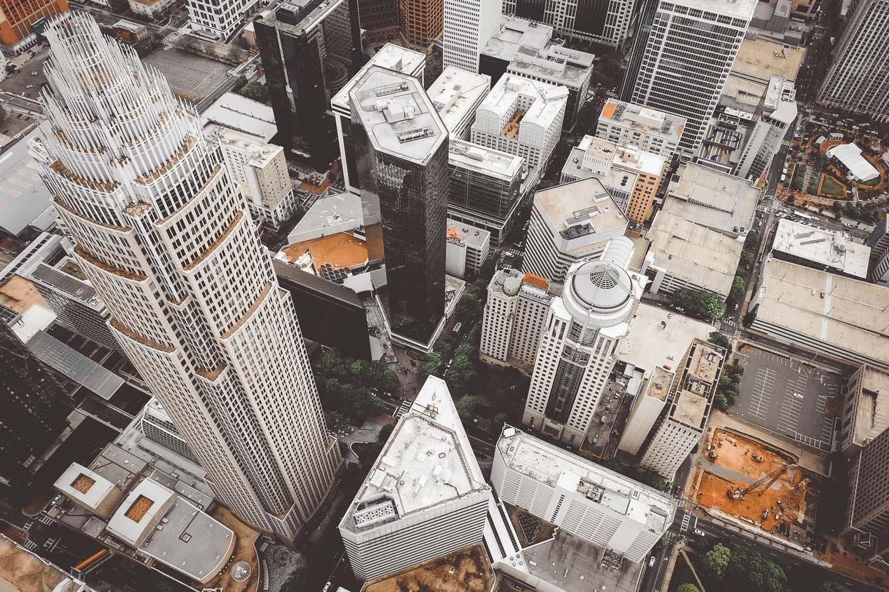Aerial shot of Charlotte
