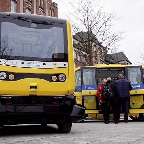 A driverless mini-bus