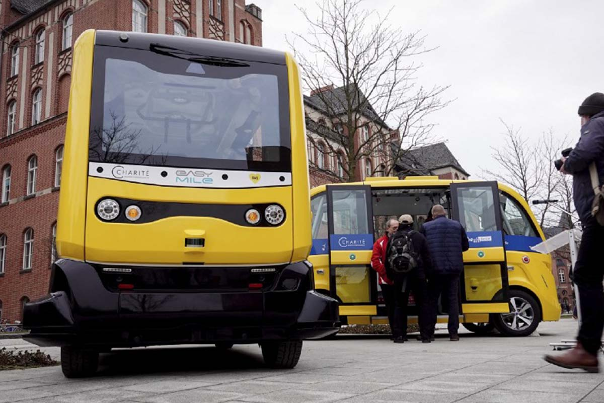 A driverless mini-bus