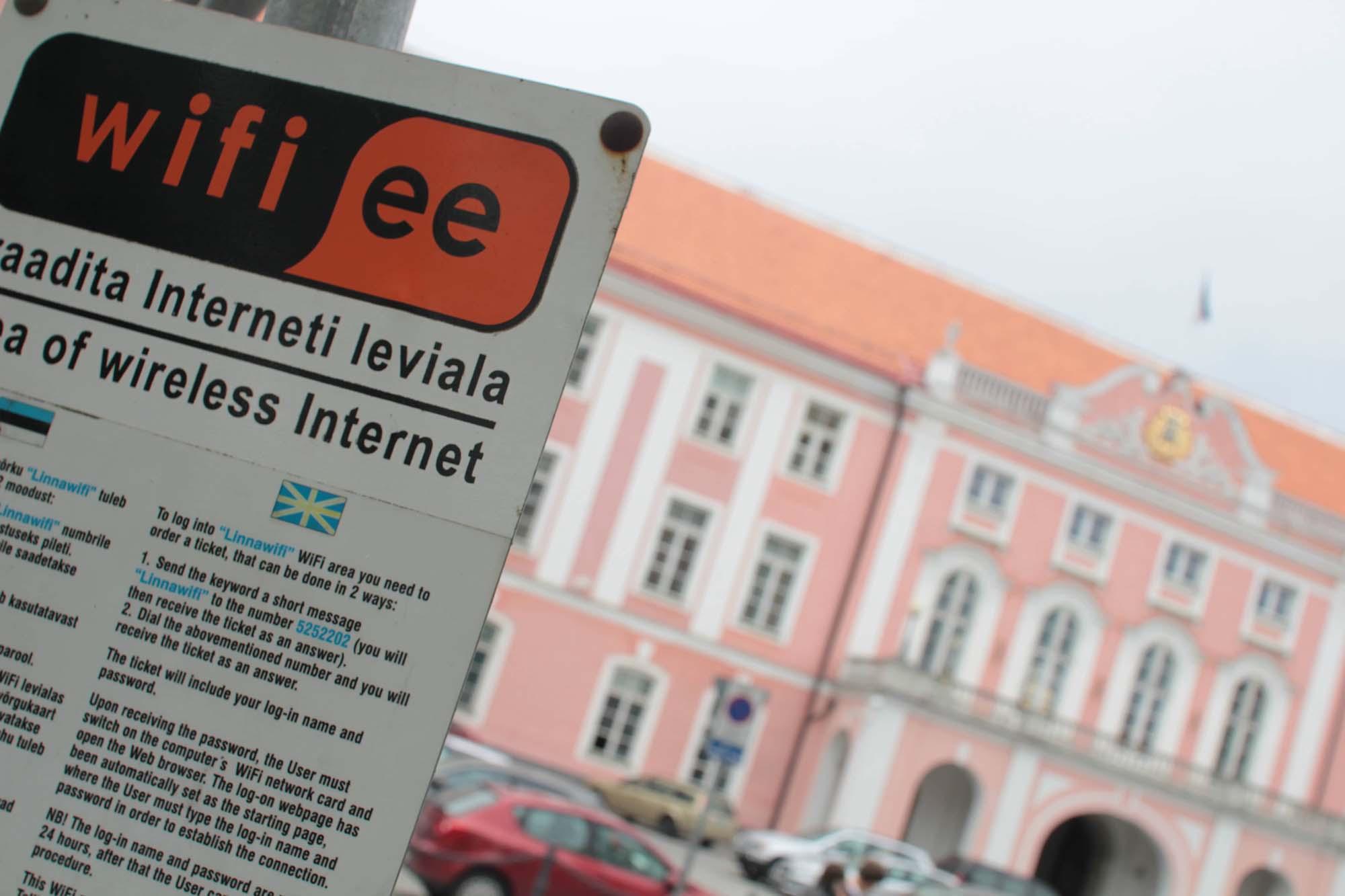 free Wifi sign in Estonia