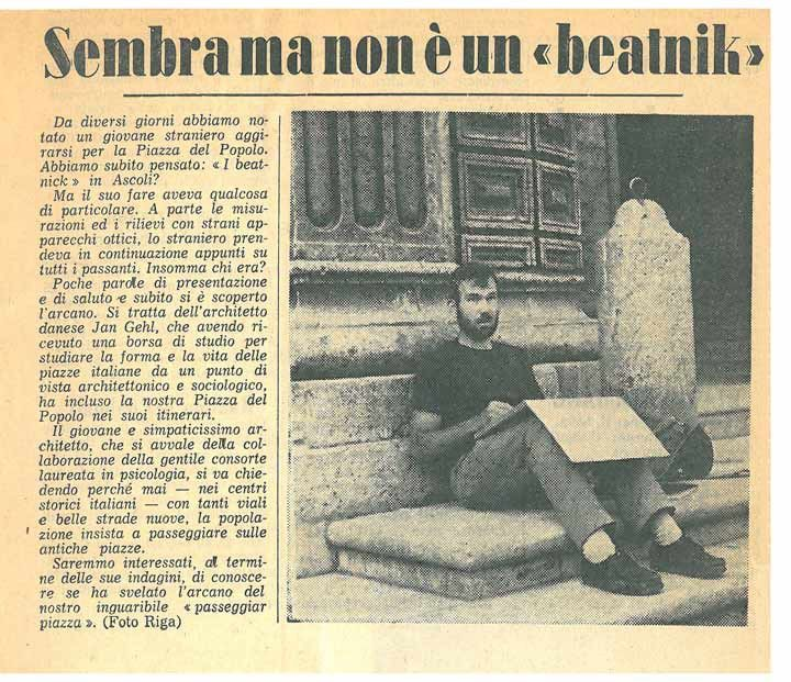 A newspaper article from a local Italian newspaper