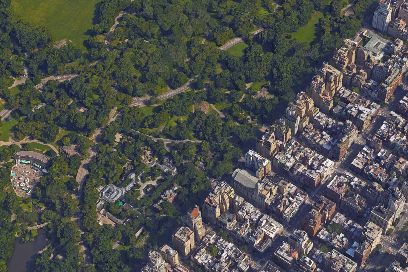 Aerial photo of Central Park