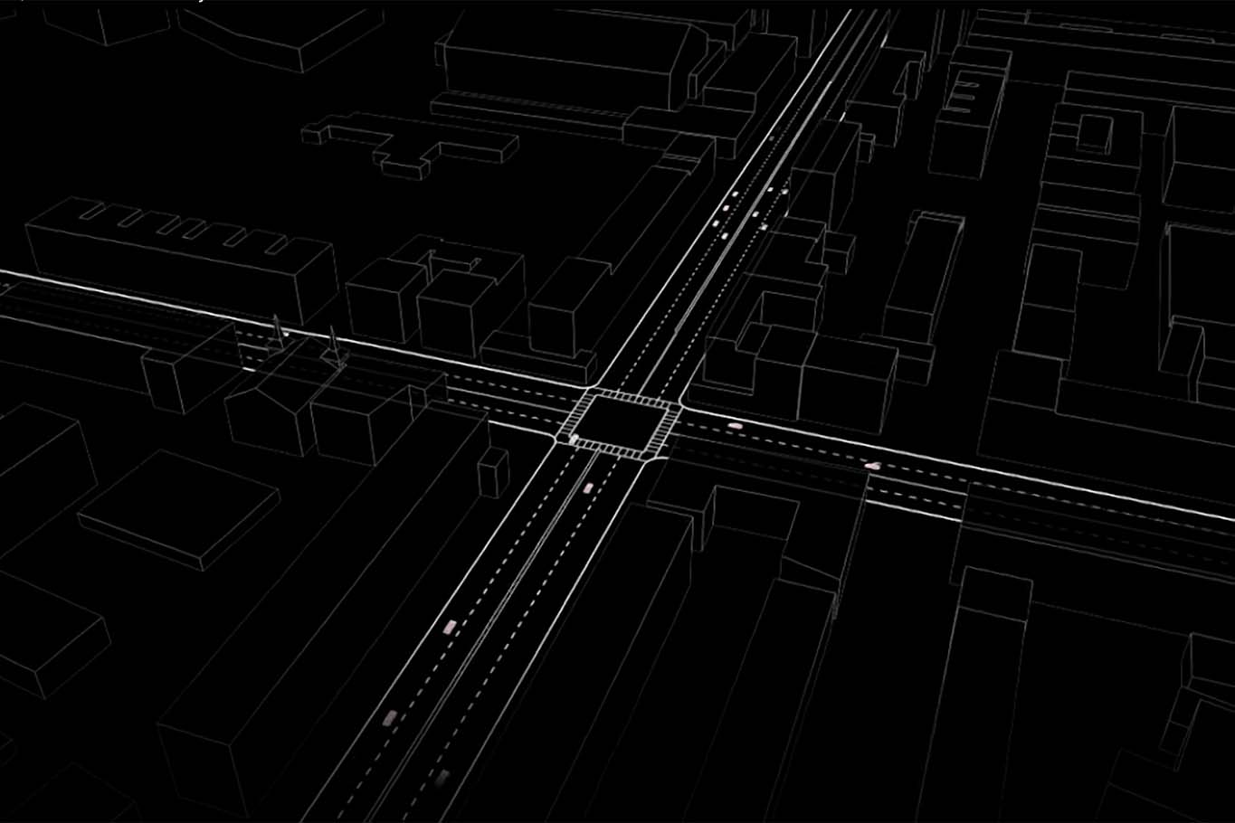 Illustration of city intersection