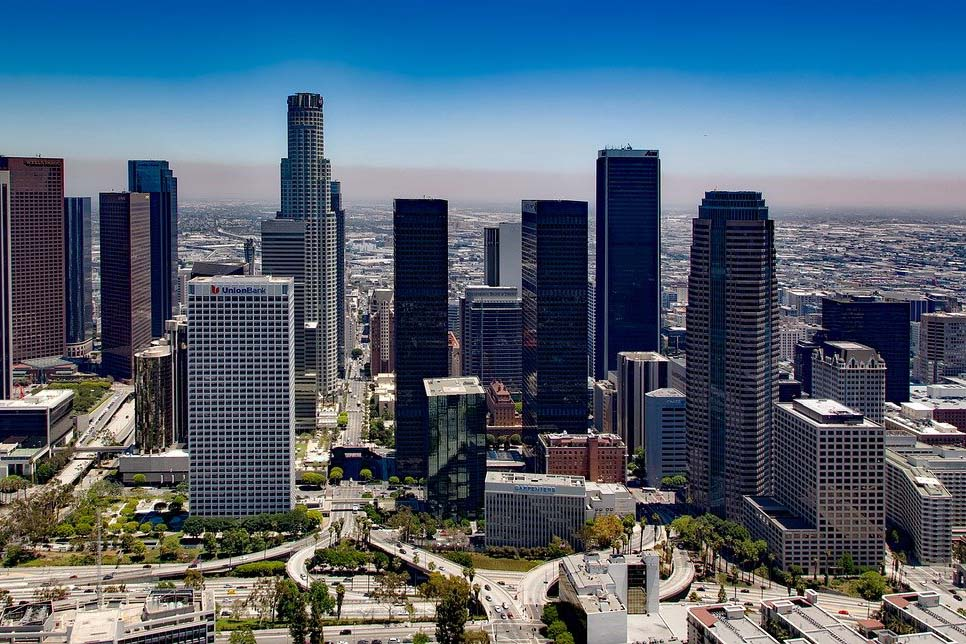 Photograph of Los Angeles towers