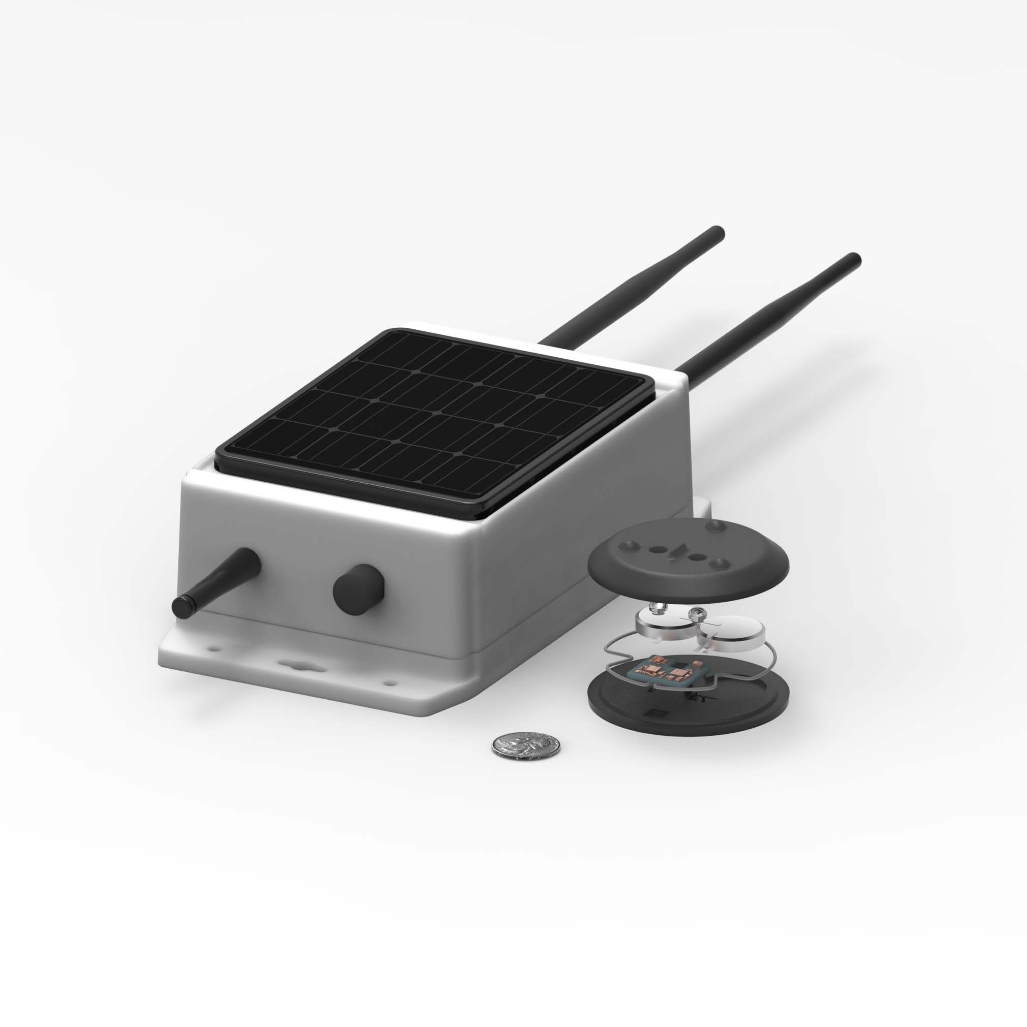 A wireless pebble system