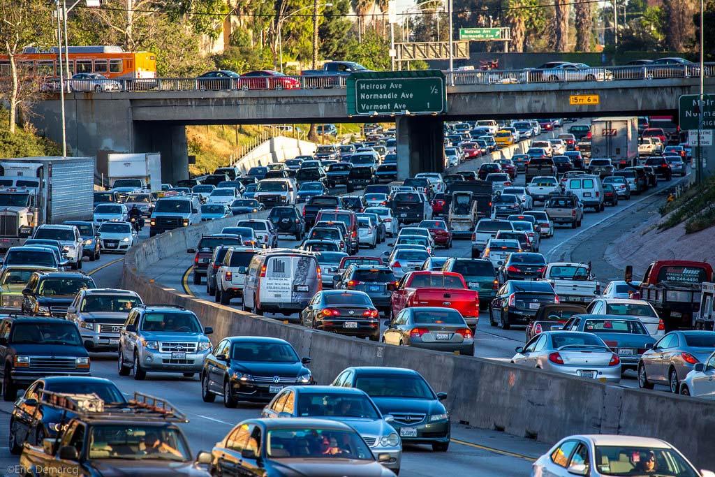 Rush hour traffic in LA