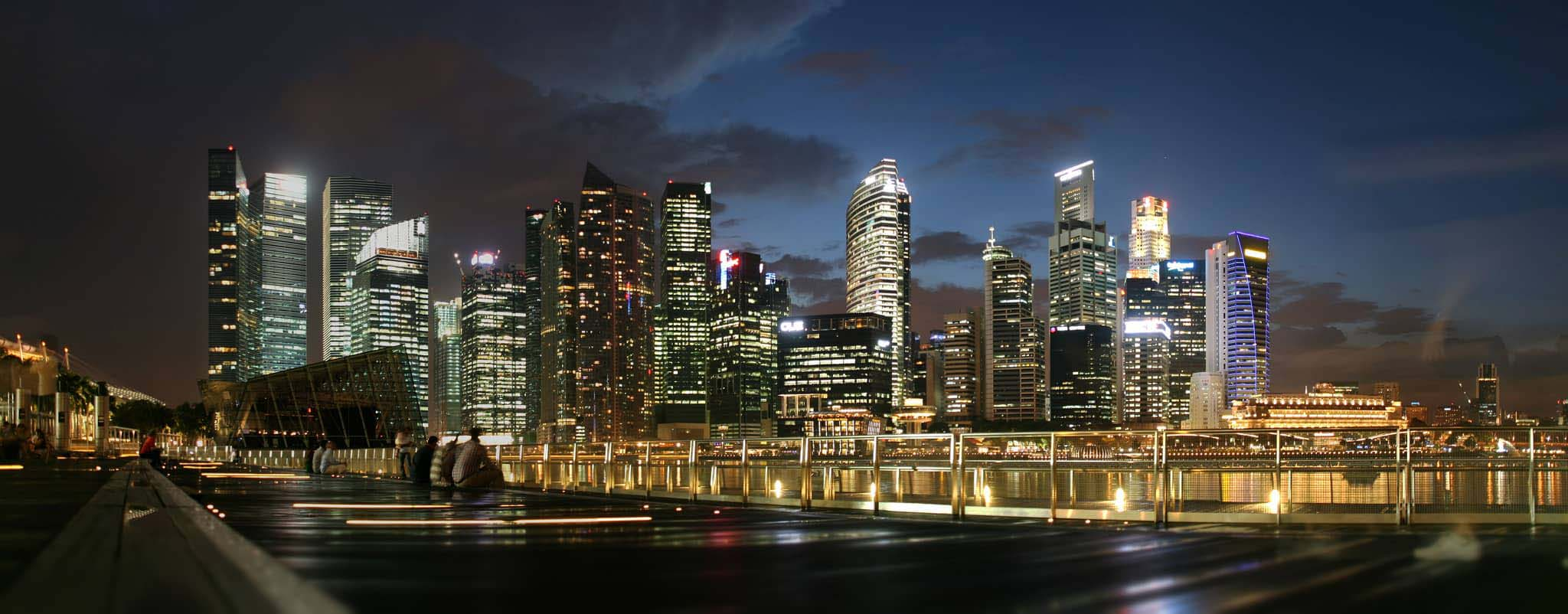 View of Singapore at night