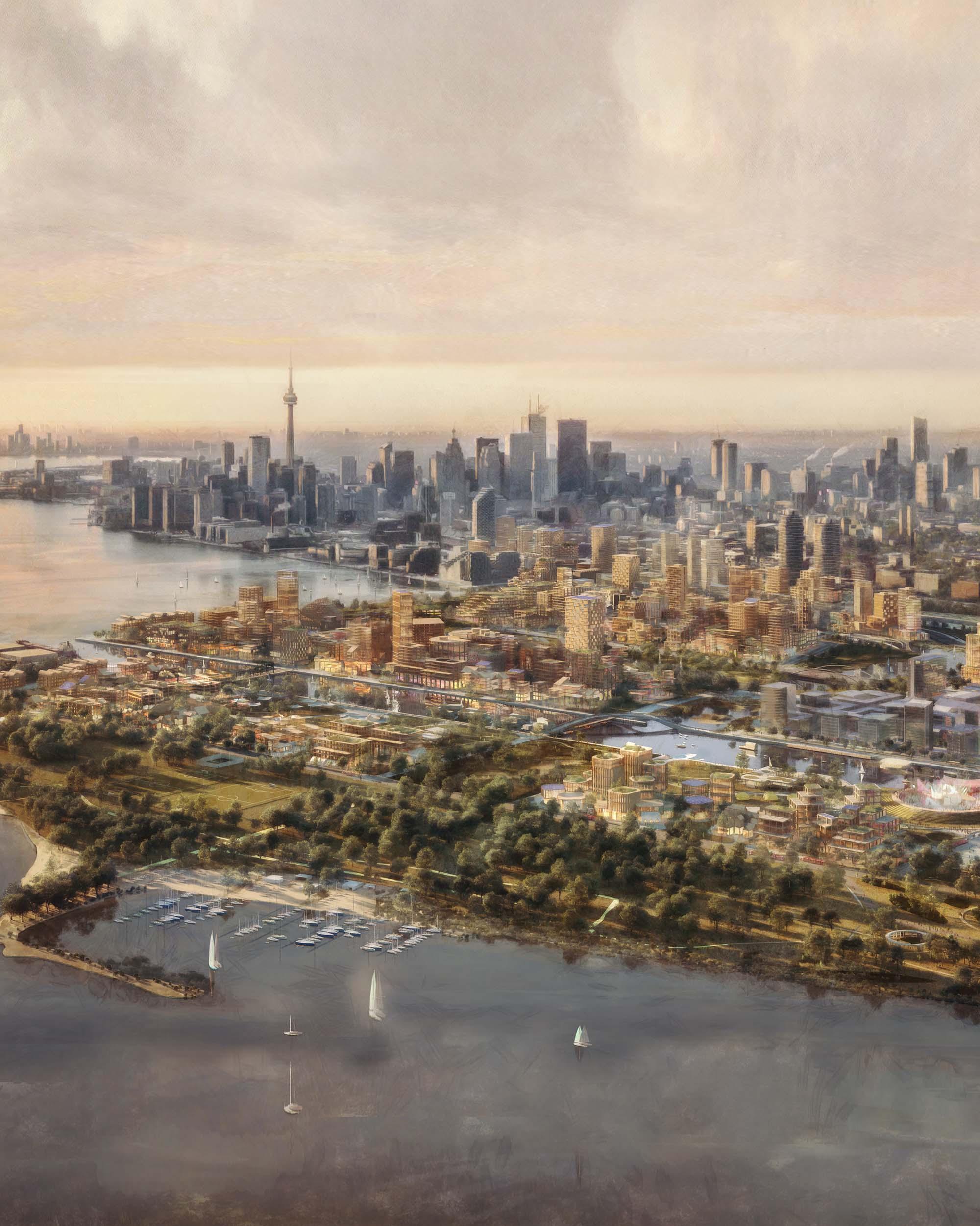 Aerial photo of Toronto