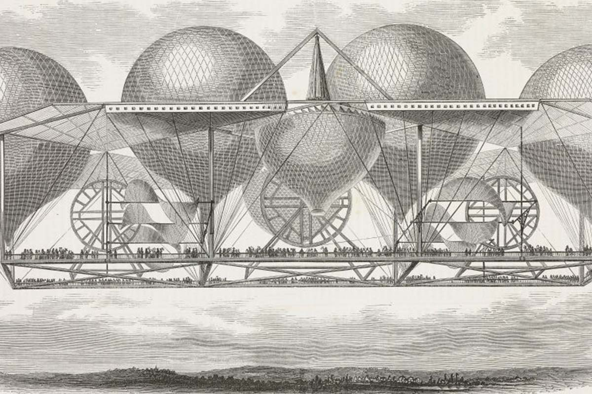 Illustration of Petin's hot-air balloon system