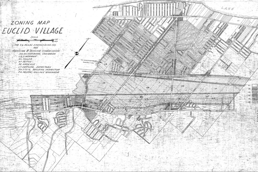 1922 Zoning Map of Euclid