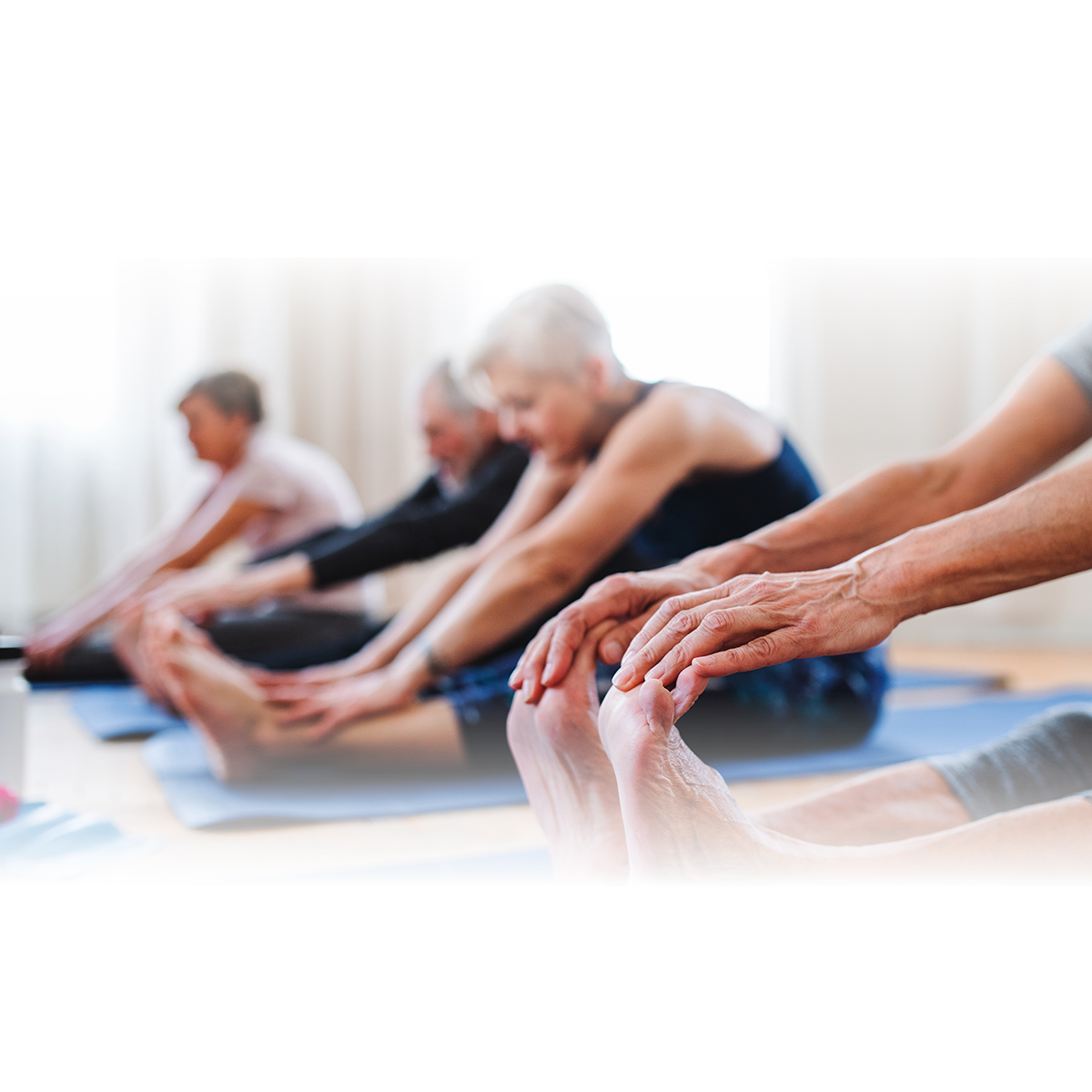 Active adults participating in Yoga