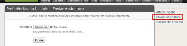 Assinatura nos PDFs