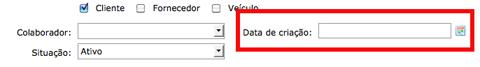 Data de criação nos documentos