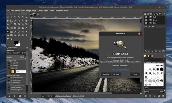 Tela do GIMP