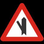 1104-2 - Križišče s priključkom neprednostne ceste na prednostno pod ostrim kotom