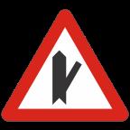 1104-3 - Križišče s priključkom neprednostne ceste na prednostno pod ostrim kotom