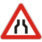 1109 - Zoženje vozišča