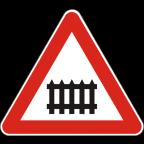 1201 - Zavarovan prehod ceste čez železniško progo