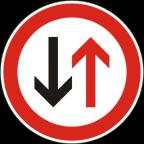 2105 - Prednost vozil iz nasprotne smeri