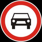 2203 - Prepovedan promet za vsa motorna vozila, razen za enosledna