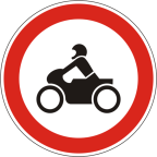 2204 - Prepovedan promet za motorna kolesa in mopede