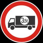 2207-1 - Prepovedan promet za tovorna vozila ali skupine vozil