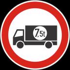 2207-2 - Prepovedan promet za tovorna vozila ali skupine vozil