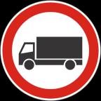 2207 - Prepovedan promet za tovorna vozila ali skupine vozil