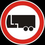 2209 - Prepovedan promet za motorna vozila s priklopnim vozilom