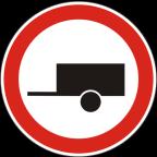 2210 - Prepovedan promet za motorna vozila s priklopnim vozilom