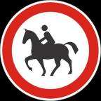 2213-1 - Prepovedan promet za vprežna vozila oziroma jahače, goniče in vodiče živali