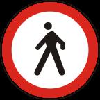 2214 - Prepovedan promet za pešce
